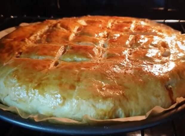Пирог из фарша и картофеля