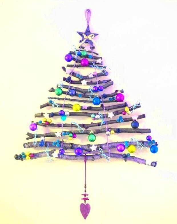 11 необычных вариантов создания новогодней елки