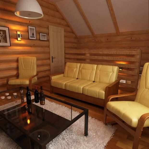 интерьер бани и комнаты отдыха фото