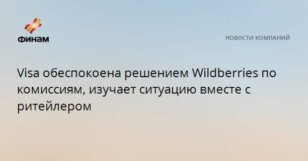 Visa обеспокоена решением Wildberries по комиссиям, изучает ситуацию вместе с ритейлером