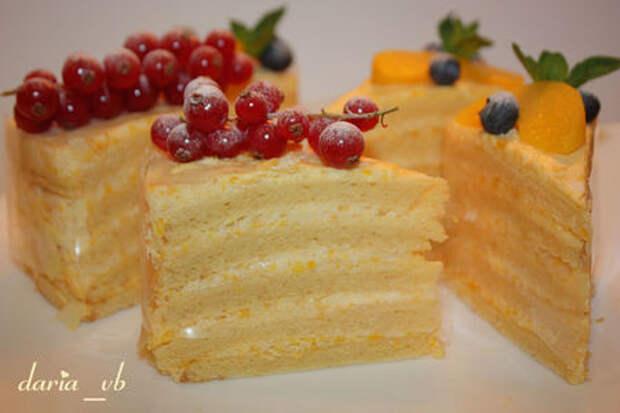 Сливочный торт «нежность» (для одной прекрасной мамы)