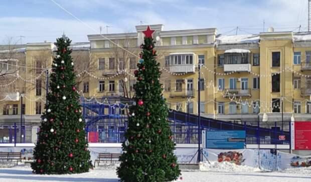 Сновогодней горки наплощади Ленина в Оренбурге прокатились 40 тысяч человек