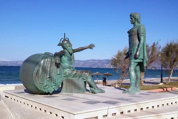 Александр Великий и Диоген. Коринф