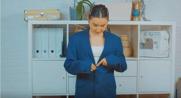 Как превратить мужской пиджак в оригинальный женский костюм
