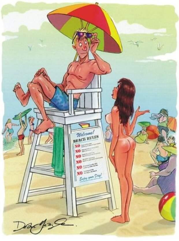 Забавные ретро рисунки из Playboy