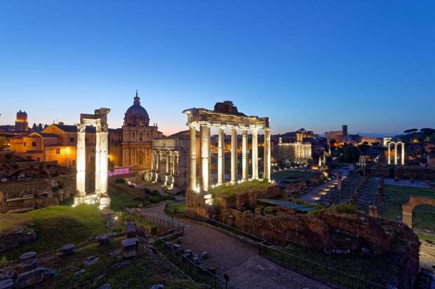 Вид на исторический цепнтр Рима
