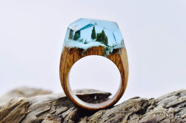 кольцо деревянное