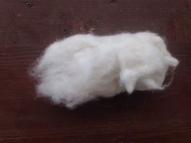 Шерсть самоеда от собаки до готового изделия Прядение, Вязание, Рукоделие с процессом, Длиннопост, Собачья шерсть, Собака