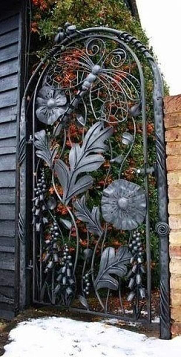 Красивые кованые ворота со всего мира