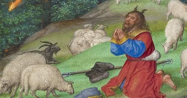 Почему пророка Моисея раньше изображали с рогами на голове?