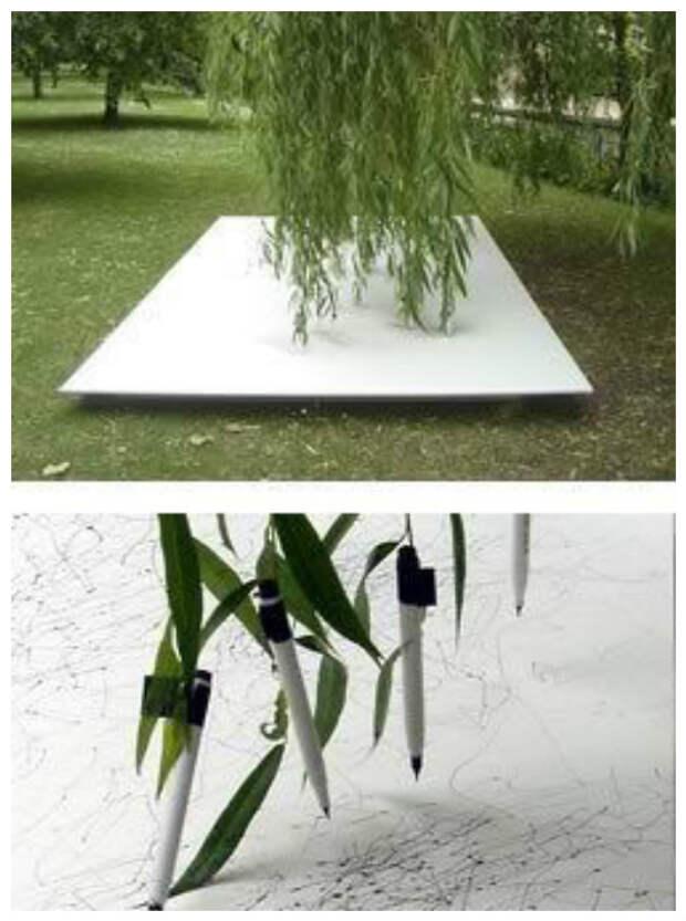 Они даже деревья заставляют рисовать интересное, искусство, креатив, творчество