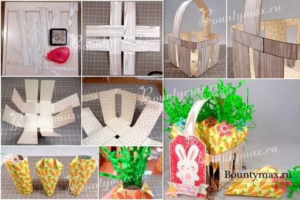Пасхальные корзиночки своими руками - много идей и пошаговых фотографий