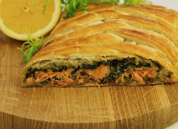 Обалденный запеченный лосось со шпинатом