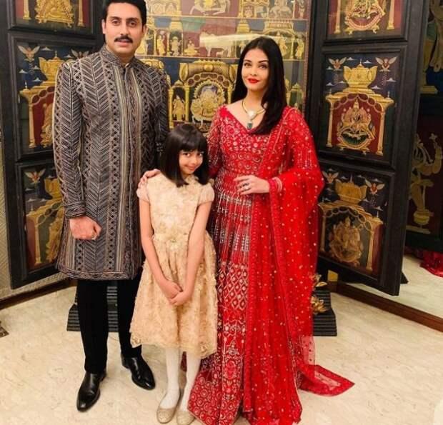 айшвария рай с мужем и дочерью