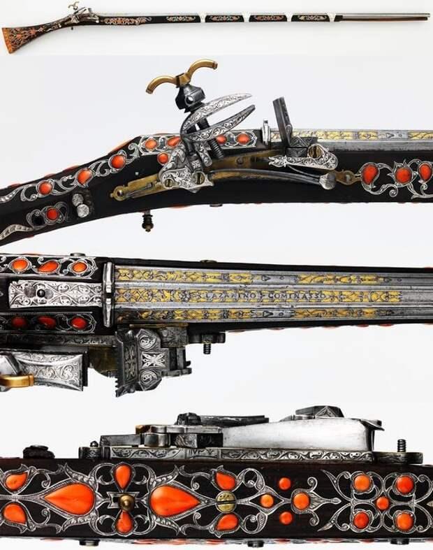 Марокканское ружье, miquelet, 1758-1759 искусство, огнестрел, оружие, старинное