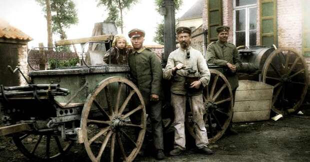 Немецкая полевая кухня, 1916 год