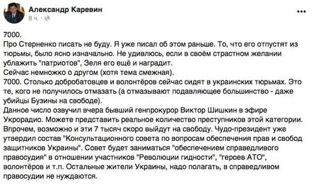 Историк и писатель Александр Каревин прокомментировал создание КС