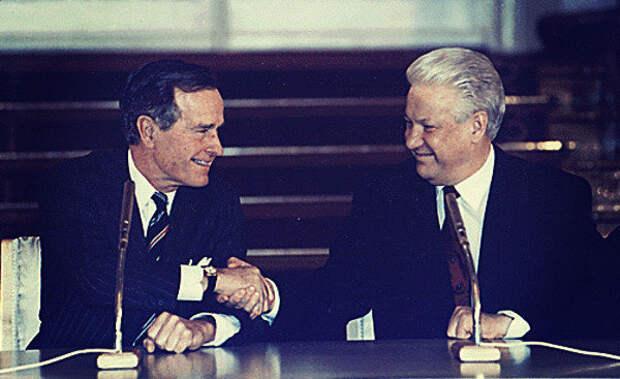Запрещенная когда-то к показу на ТВ речь Бориса Ельцина в конгрессе США