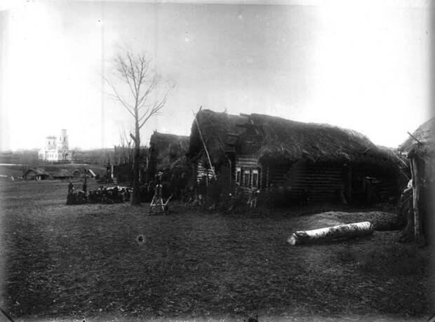 Общий вид села Пермяево. Нижегородская губерния, Сергачский уезд, 1891-1892 год.