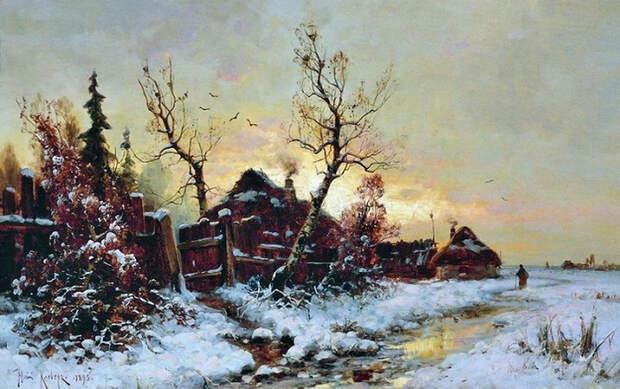 Зимний пейзаж. 1895. (700x439, 380Kb)