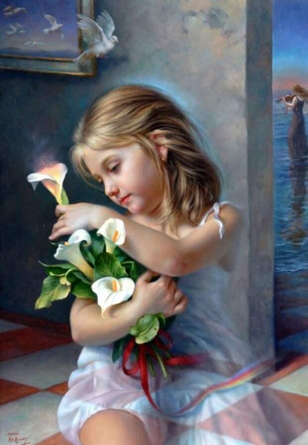 Волшебные цветы. Автор: испанский художник Алекс Алемани (Alex Alemany).