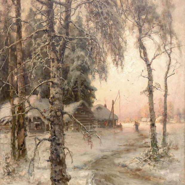 Зимний пейзаж. 1914 (700x698, 480Kb)