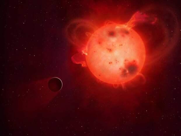 Kepler-438b и его звезда / © wikipedia.org