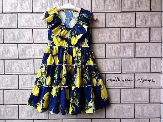 Выкройка летнего детского платья