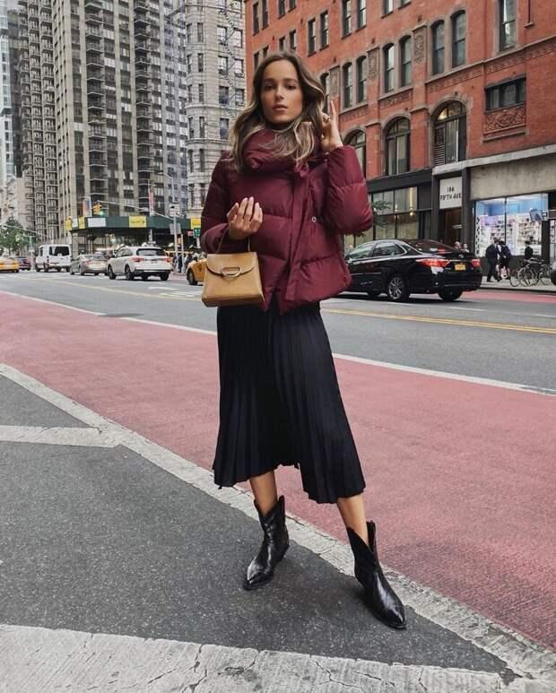 Стильные образы в модных оттенках бордо и марсала