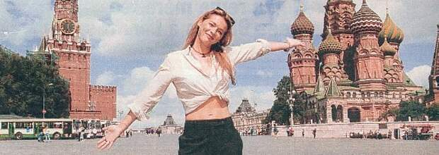 Элен Ролле в Москве, июль 1998 года.