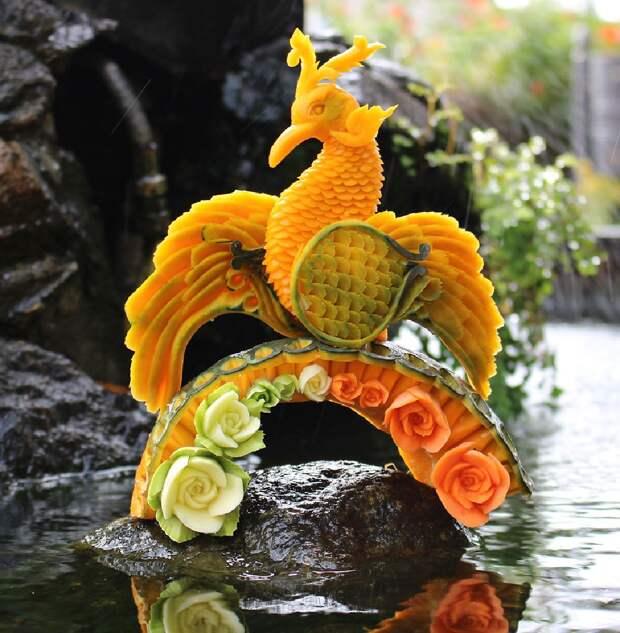 Карвинг на арбузе. Удивительные шедевры