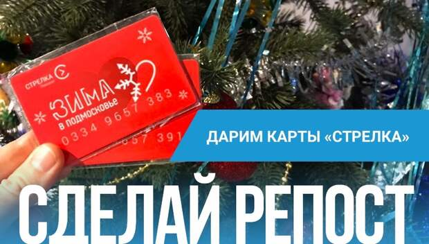 РИАМО подарит читателям в соцсетях брелоки «Стрелка» с дизайном «Зима в Подмосковье»