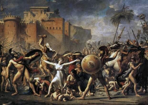 Жак-Луи Давид: Сабинянки, останавливающие сражение между римлянами и сабинянами.