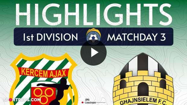 Highlights: Kercem Ajax – Ghajnsielem | Matchday 3 | September 19, 2021