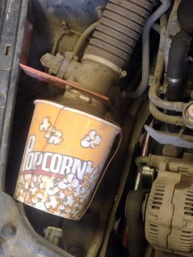 2. Благодаря такому воздушному фильтру вас не будет покидать ощущение, что вы в кинотеатре авто, прикол, ремонт