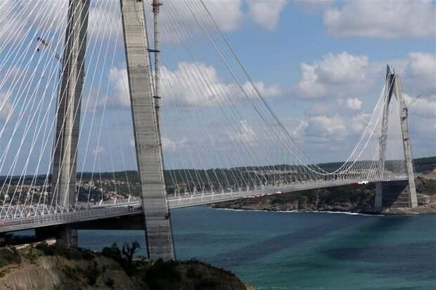 Мост султана Селима Явуза через Босфор: самый широкий подвесной мост в мире