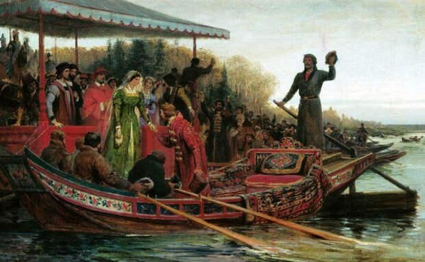 Встреча царевны Софьи наЧудском озере, Федор Бронников. Источник: wikipedia.org