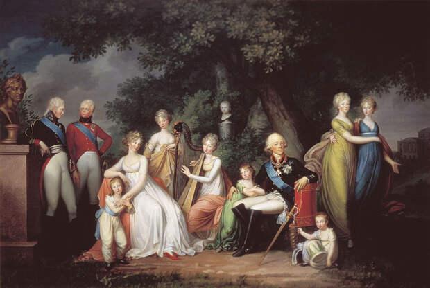 Павел I и Анна Лопухина