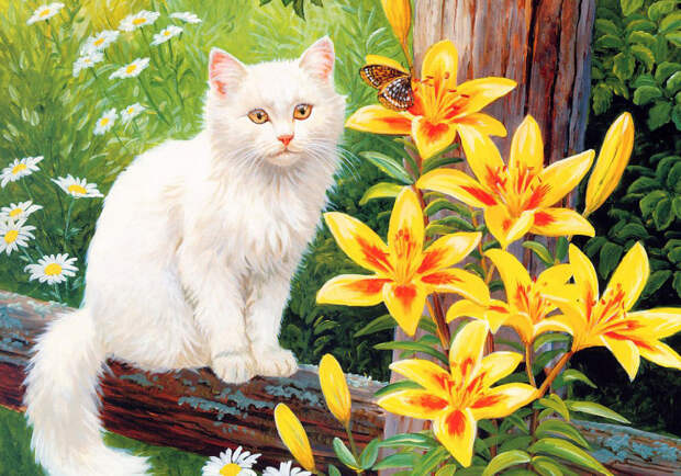 Лилии смертельно опасны для кошек