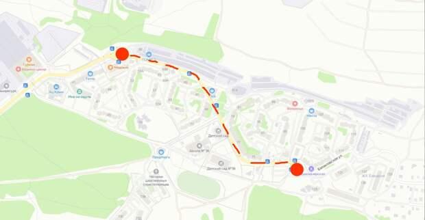 С 17 октября в Симферополе будут перекрывать улицу Балаклавскую