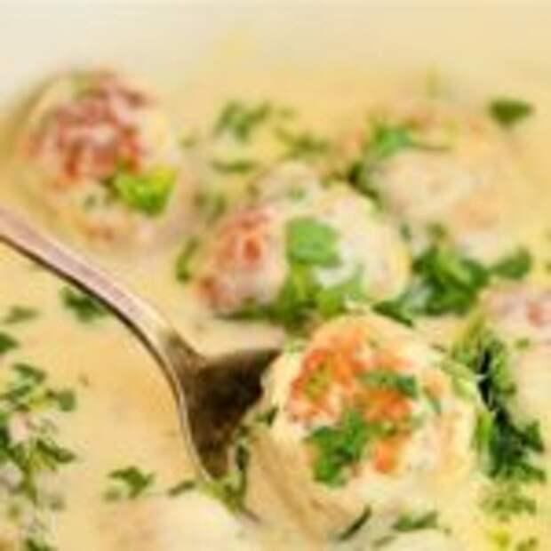 Тефтельки в сливочно-грибном соусе, пальчики оближешь!