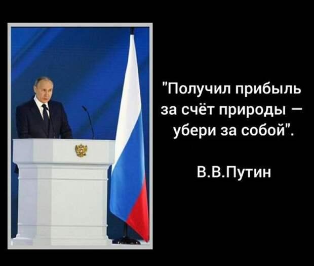Владимир Путин обещал, что вопросы охраны окружающей среды ревизии не подлежат