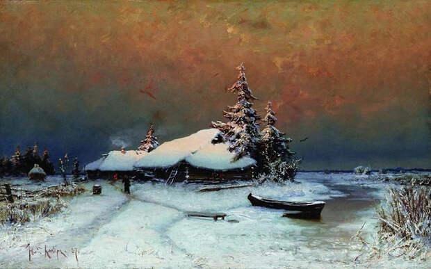 Зимний закат. 1887. (700x438, 345Kb)