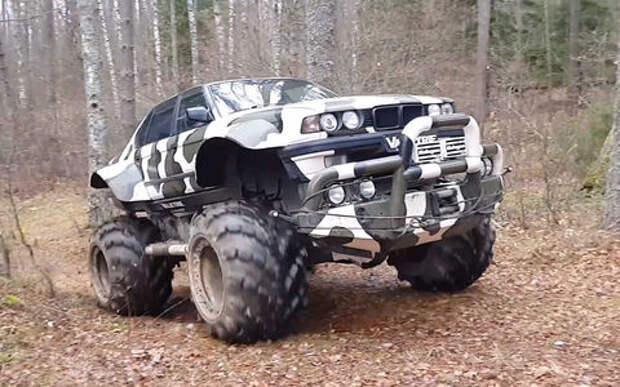 Умельцы скрестили ГАЗ-66 с BMW 7-й серии