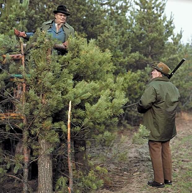 Брежнев и Тито на охоте. Украина, 1973г.