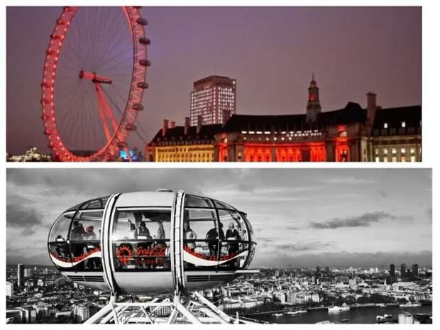 Колесо обозрения Coca-Cola London Eye / Фото: fotokto.ru