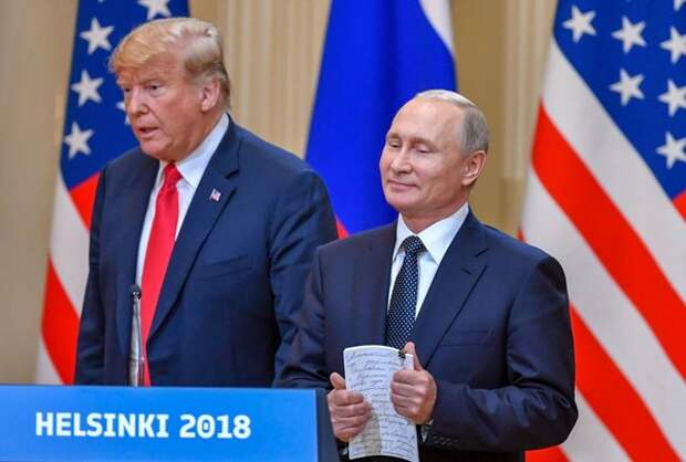 Путин и Трамп на пресс-конференции по итогам саммита
