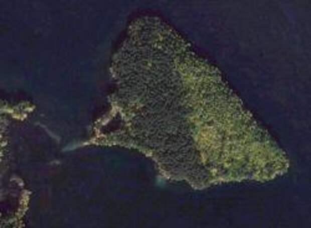Остров Веры с самолета