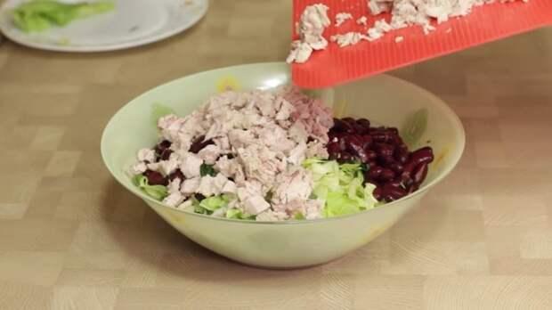 САЛАТ IrinaCooking, видео рецепт, еда, кулинария, рецепт, салат, салат с курицей