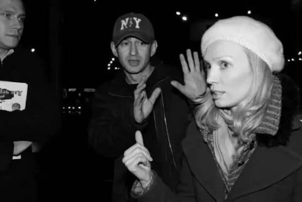 Константин Хабенский и Мария Милютина на съемках фильма My Tube! (2009)